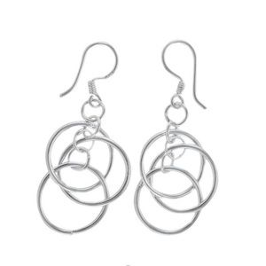 Jewelry - 925 Sterling Silver Circle Dangle Earrings